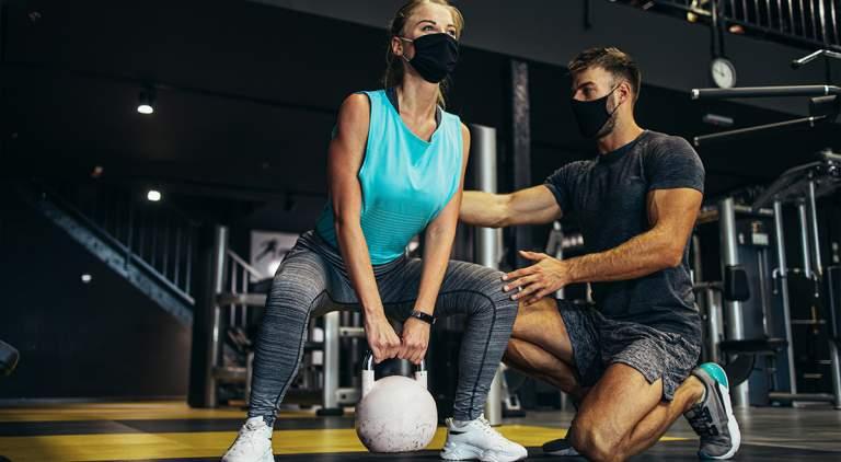 Γυμναστήριο και μάσκα…